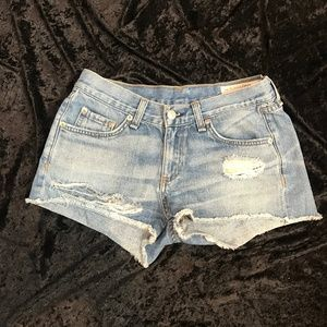 EUC Rag & Bone Denim Cutoff Shorts